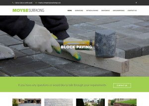 New Website for Moyse Surfacing Contractor